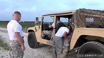 Really assfucked army jeep cadet on military not absolutely