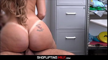 Thick Hot Blonde Milf Shoplifter Big Fake Tits Big Ass Sex With Guard For No Real Cops thumbnail