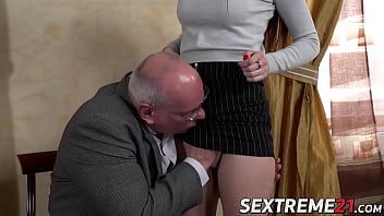 Old dude fucks a really young chick hard