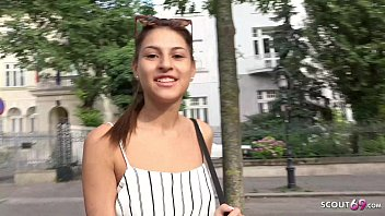 ►► GERMAN SCOUT - SKINNY GIRL SECUCE TO SEX FOR CASH AT PUBLIC STREET CASTING ◄◄