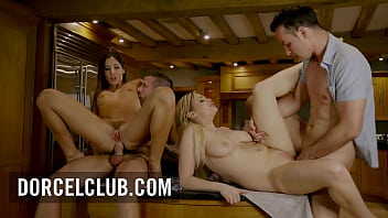 Clea and Katy enjoy a torrid foursome with 2 men