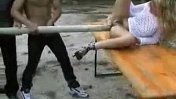 Incredible italian whore anal fucked with a big stick