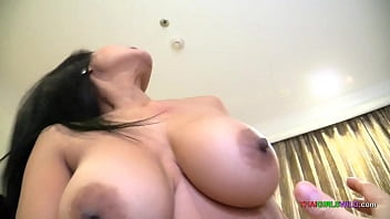Horny Thai girl with big boobs wouldnt let me pull out