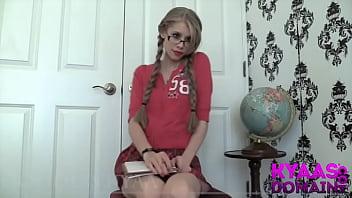 Upskirt Schoolgirl Manipulation GODDESS KYAA FEMDOM