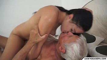 cute babe and her aged lover