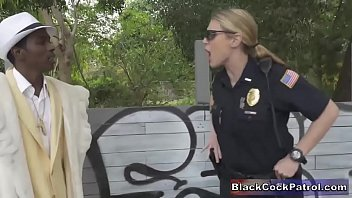Female Cops Bust Black Pimp & Make Him Their Bitch