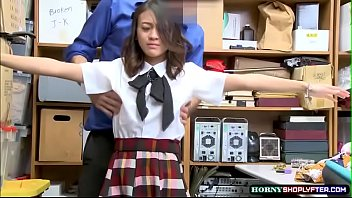 Asian teen Jasmine Grey gets caught and fucked hard in the office