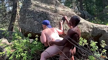 Mature muscular bbc pounds Bbc pawg in the Forrest in this outside interracial trist