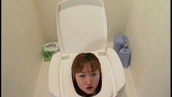 Peeing into human toilette