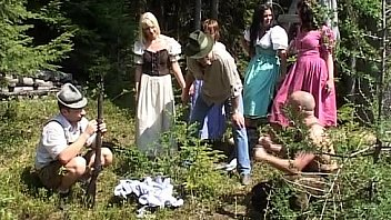 Group mountain fuck action sex