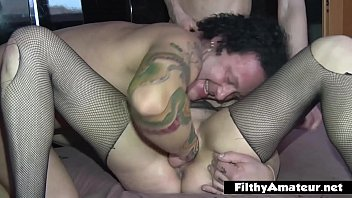 Nymphomaniac squirts and has repeated orgasms
