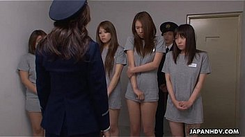 Slutty Asian prisoners getting anally fucked and spunked