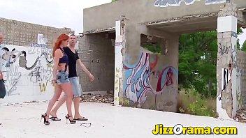 JizzOrama - Slut Exchange Hardcore Banging Outside