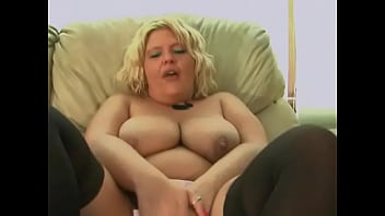 Big boob MILF pleasures herself