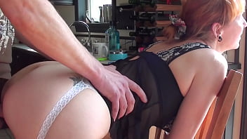A great doggystyle fuck on the kitchen chair with my cute redhead