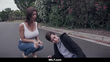 MILF - Fucking A Young Guy She Just Hit With Her Car