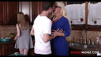 BLonde mom fucking daughter and her BF FOR REAL