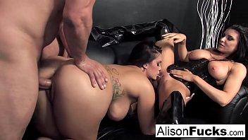 Alison Tyler's hot hardcore threesome