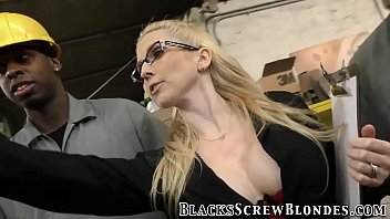 Blonde milf rides bbcs