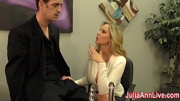 Sexy Milf Julia Ann wants to make sure he is not going out with a load cock, so she decides to milk him on date night! See the full video and gain access to Julia's live free member shows!