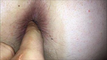 Anal insertions pushing and pooping out fruit from her tight asshole