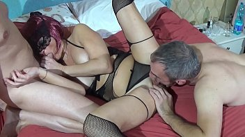 Watch Threesome Mature Lady and Two Cocks with massive facial cumshot preview