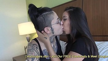 Slutty brunette babes pussy licking and fingering hard