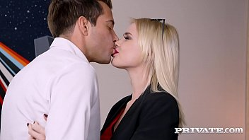 Sexy blonde assistant Lika Star, stuffs her pretty lip glossed mouth with a hard cock before taking that lucky dick in her pink pussy & tight butthole! Full Flick & 1000's More at Private.com!