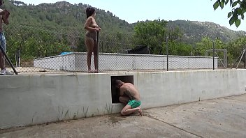 I record my 18-year-old neighbor topless in the pool of her chalet
