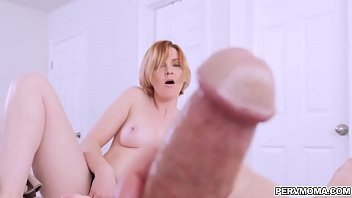 Sexy MILF Marie Mccray caught her stepson jerking in his room.