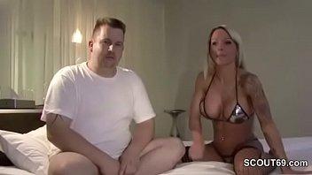 Echte Deutsche Hure aus Hamburg reitet Freier im Sexy Outfit in POV im P-Club ab - German Hooker