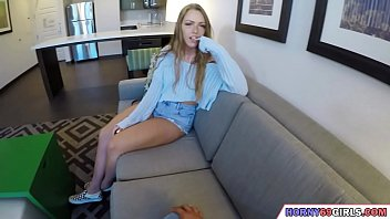 POV sex with a brunette teen