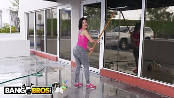 BANGBROS - Cuban Maid Kitty Caprice Joins Cam Model Aaliyah Hadid In 3way