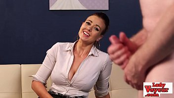 British voyeur toying with jerking guy