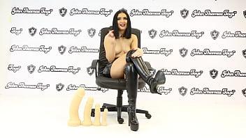 Roxee Couture Fucking The RhaegarDildo from John Thomas UK sex toy manufacturer
