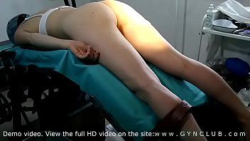 Lustful gynecologist fucks (dildo) patient