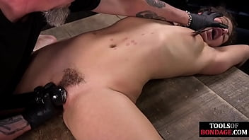 BDSM sub toy fucked and fingered by strict dom