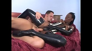 Slutty Lady Armani gets her pussy & asshole fucked with white cock then facial