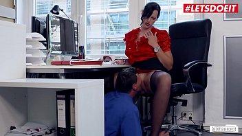 Naughty Secretary Gets Cummed on For a Raise - LETSDOEIT.COM