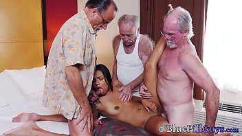 Hot Young Latina Teen Picked Up By Dirty Old Geezers For Naughty Fun