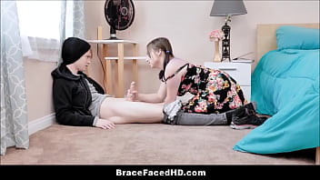 Young And Thick Big Ass Teenager With Braces Luna Bright First Time Sex With Big Dick Shy Boyfriend