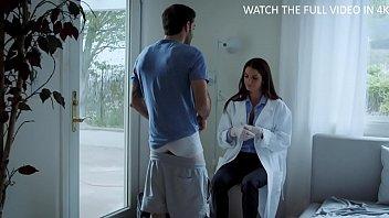 MILF doctor examines family member