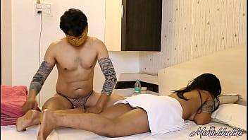 Indian Aunty Mona Bhabhi Erotic Hardcore Massage Sex In Hotel Room On Vacation