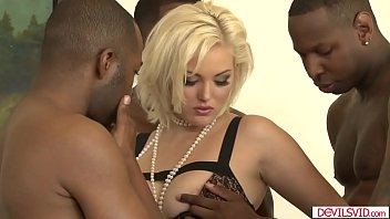 Big tits babe gangbanged nd double penetrated by four bbcs