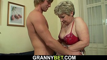 Very old granny spreads legs