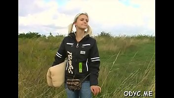 Extraordinary teen blonde Christy with large natural tits does something