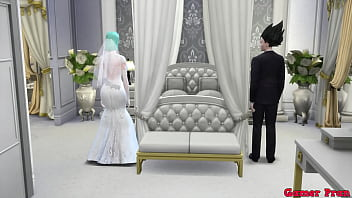Bulma Marriage Episode 1 Bulma Delicious Wife Marries her Beloved Husband but is Blackmailed by the Master and Fucked by Blacks on the Day of Her Wedding Netorare Hentai