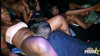 Gangbang with hot babes at party