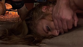 Lily Love fucked until her bound orgasms.