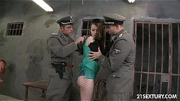 Jewish Whore Abused in Holocaust Orgy